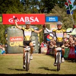Christoph Sauser and Burry Stander winning Cape Epic 2012